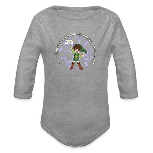 Dangerous To Game Alone - Organic Longsleeve Baby Bodysuit