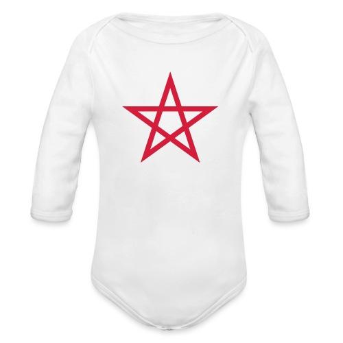 Pentagramme Wicca - Body Bébé bio manches longues