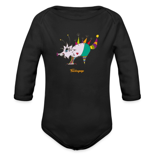 Tricérapop - Body Bébé bio manches longues