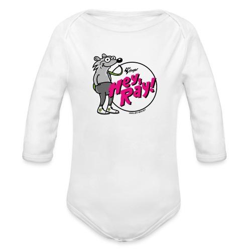 Hey Ray! Logo magenta - Baby Bio-Langarm-Body