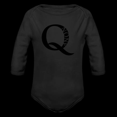 Q Anon Q-Anon Original Logo - Baby Bio-Langarm-Body