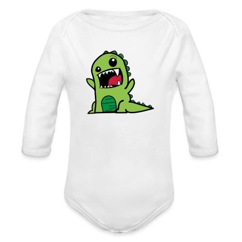 Comic-Dino - Baby Bio-Langarm-Body