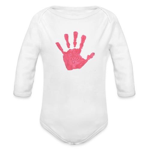 Hand - Ekologisk långärmad babybody