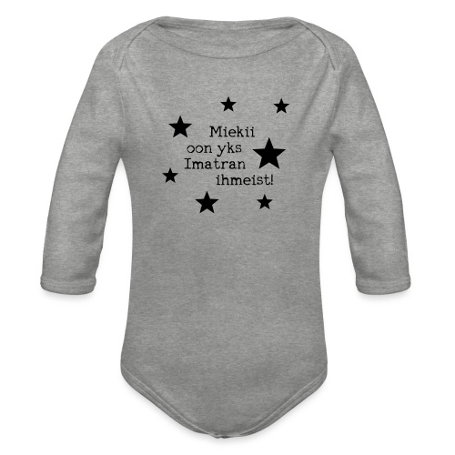 Miekii oon yks Imatran Ihmeist lasten t-paita - Vauvan pitkähihainen luomu-body