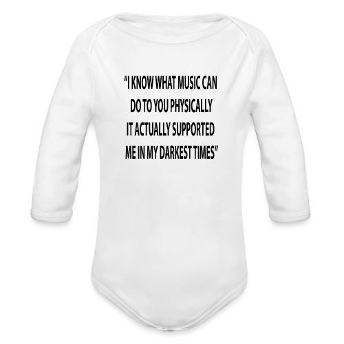 Quote RobRibbelink physically Phone case - Organic Longsleeve Baby Bodysuit