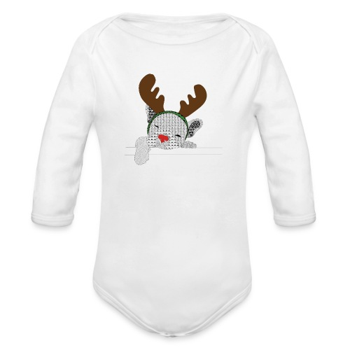 ChristmasDogColour - Baby bio-rompertje met lange mouwen