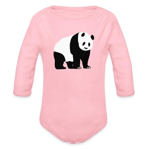 Panda - Vauvan pitkähihainen luomu-body