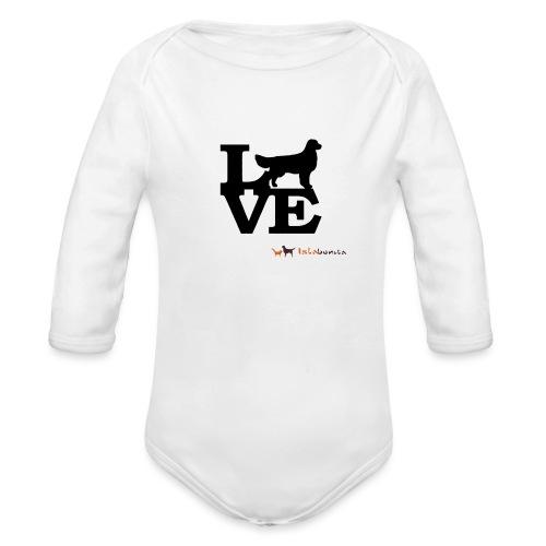 Golden Love - Body ecologico per neonato a manica lunga