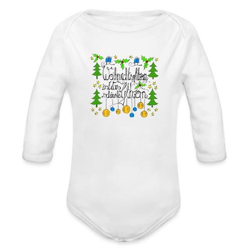 Weihnachtsglitzern - Baby Bio-Langarm-Body