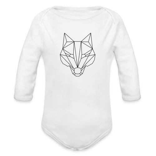 Wolf Blacklined - Baby Bio-Langarm-Body