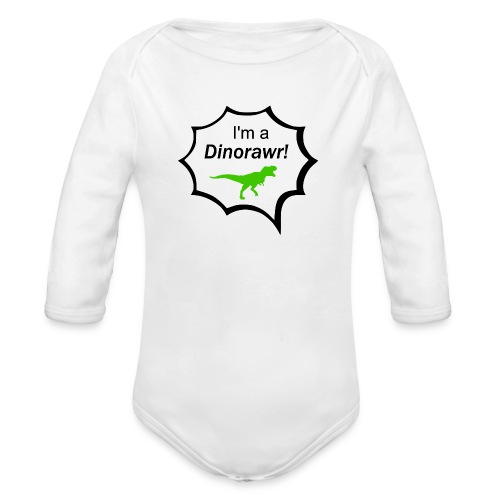 I¨m a dinorawr - Ekologisk långärmad babybody