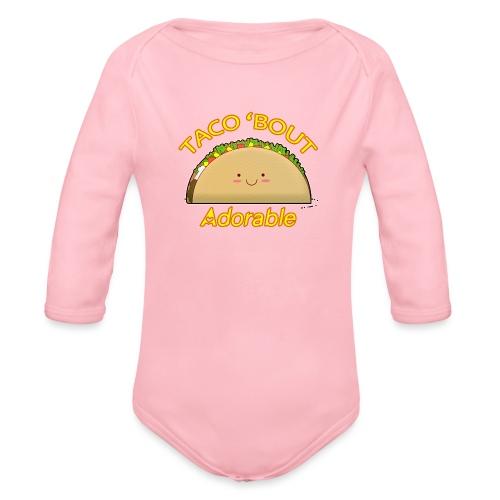 taco - Body ecologico per neonato a manica lunga