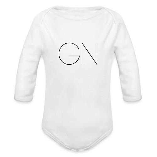 Långärmad tröja GN slim text - Ekologisk långärmad babybody