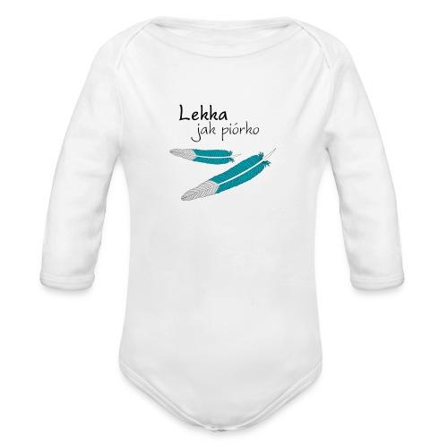 Lekka jak piórko - Ekologiczne body niemowlęce z długim rękawem