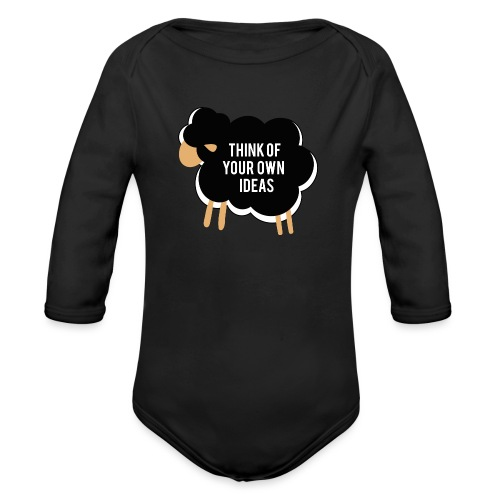 Think of your own idea! - Organic Longsleeve Baby Bodysuit
