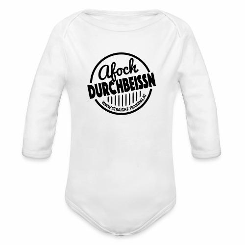 Afoch Durchbeissn - Baby Bio-Langarm-Body