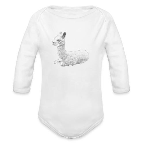 Kleines Alpaka - Baby Bio-Langarm-Body