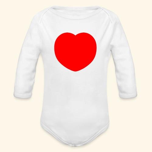 Heart - Baby Bio-Langarm-Body