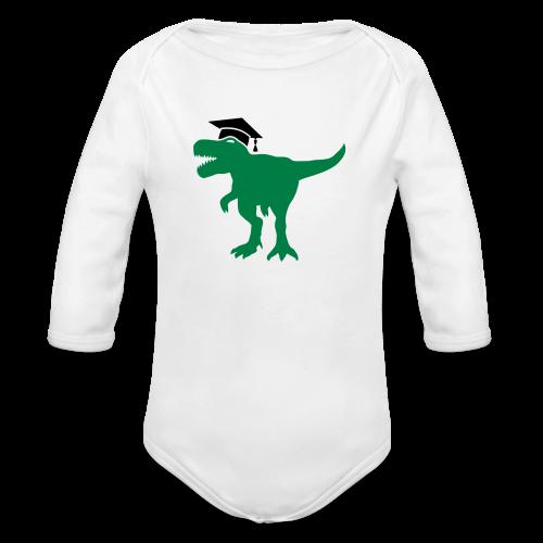 Dinosaurier Doktorhut Promotion Dissertation - Baby Bio-Langarm-Body