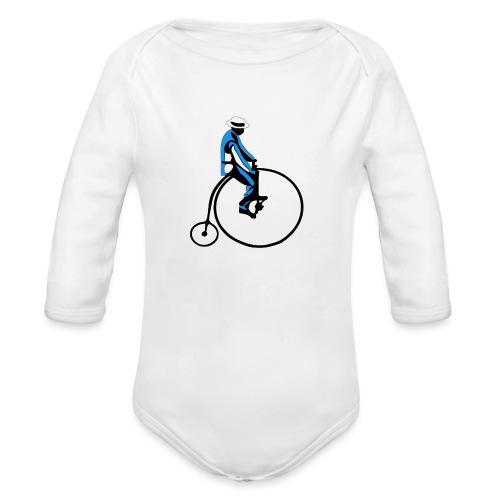 retro rower - Ekologiczne body niemowlęce z długim rękawem