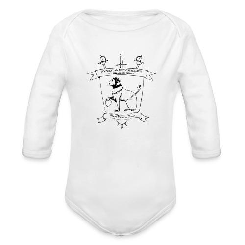 Naisten t-paita, musta logo - Vauvan pitkähihainen luomu-body