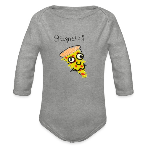spaghetti - Baby bio-rompertje met lange mouwen