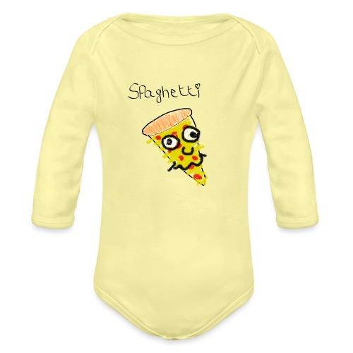 spaghetti trui - Baby bio-rompertje met lange mouwen