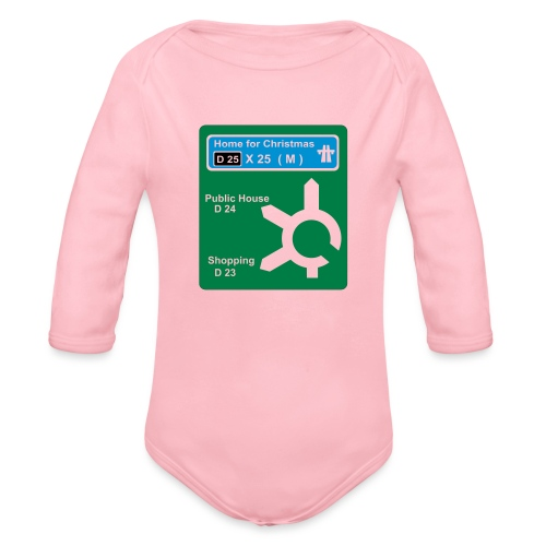 HOME_FOR_CHRISTMAS_SIGN - Organic Longsleeve Baby Bodysuit