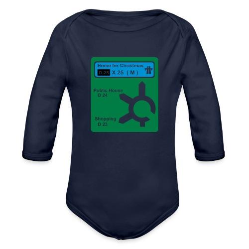 HOME_FOR_CHRISTMAS_SIGN - Organic Longsleeve Baby Bodysuit