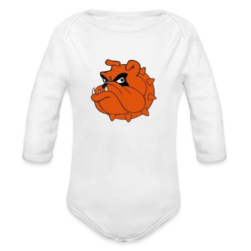 Bulldog Héros Animés - Body bébé bio manches longues