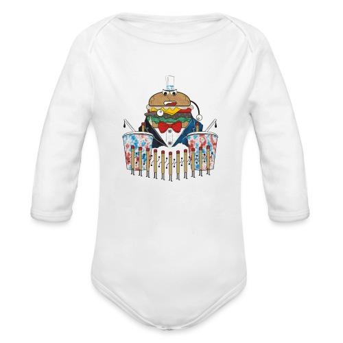 Hamburger army - Vauvan pitkähihainen luomu-body