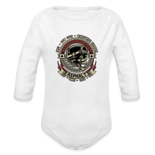 Asphalt - Body ecologico per neonato a manica lunga