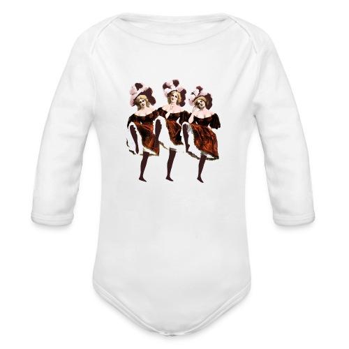 Vintage Dancers - Organic Longsleeve Baby Bodysuit