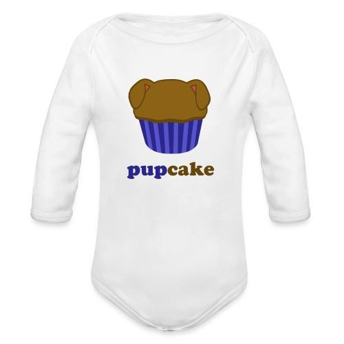 pupcake blauw - Baby bio-rompertje met lange mouwen