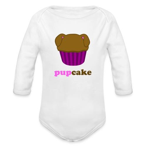 pupcake roze - Baby bio-rompertje met lange mouwen
