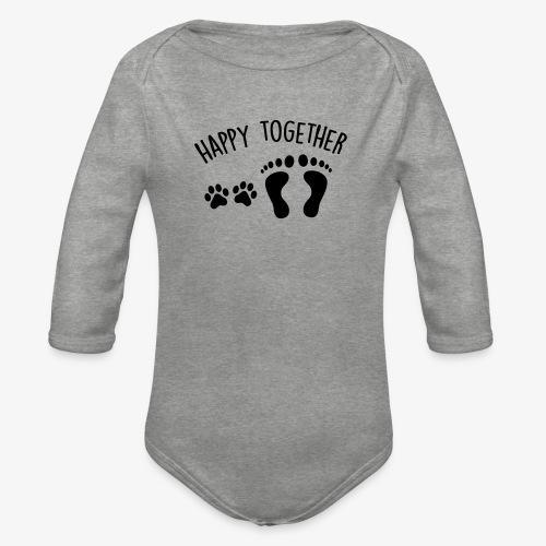 happy together dog - Baby Bio-Langarm-Body