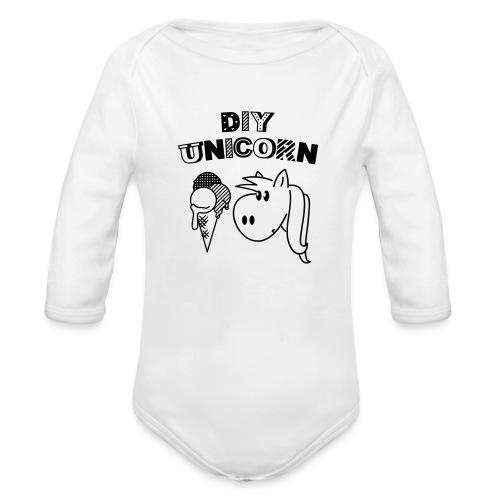DIY Unicorn Einhorn - Baby Bio-Langarm-Body