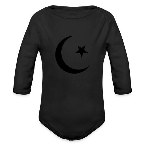 islam-logo - Organic Longsleeve Baby Bodysuit