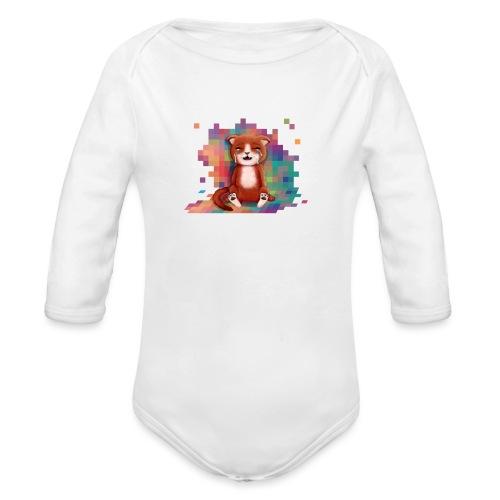 Pixels Make Me Cry - Organic Longsleeve Baby Bodysuit