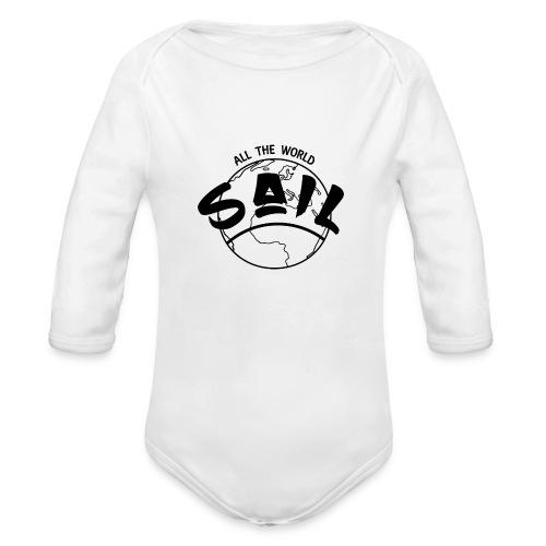 planette_terre_SAIL_ - Body bébé bio manches longues