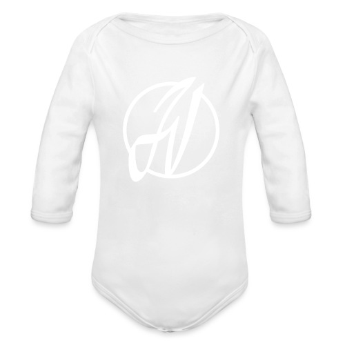 JV Guitars - logo blanc - Body Bébé bio manches longues