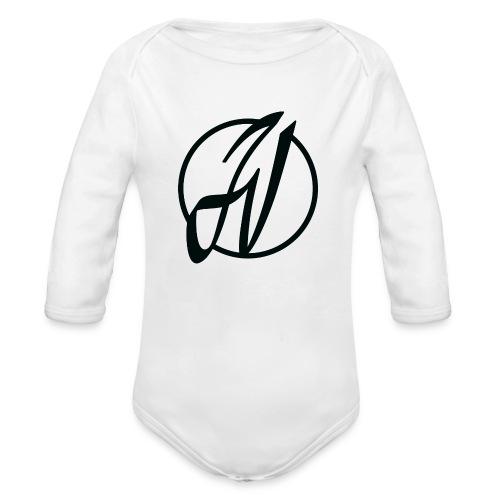 JV Guitars - logo noir - Body bébé bio manches longues