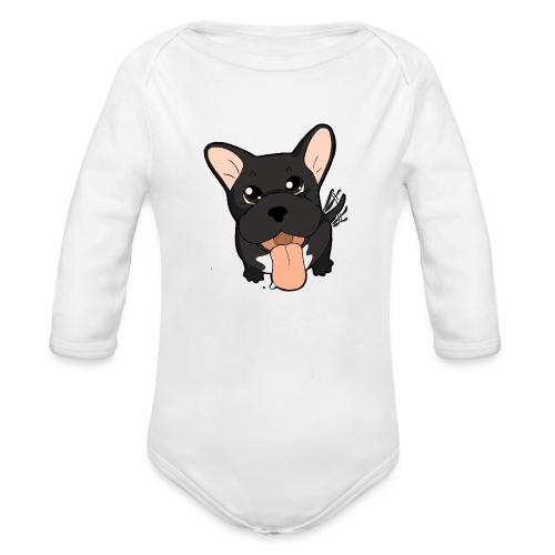 Bouledogue Francese nero - Body ecologico per neonato a manica lunga