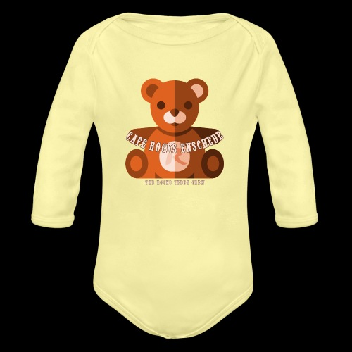 Rocks Teddy Bear - Brown - Baby bio-rompertje met lange mouwen