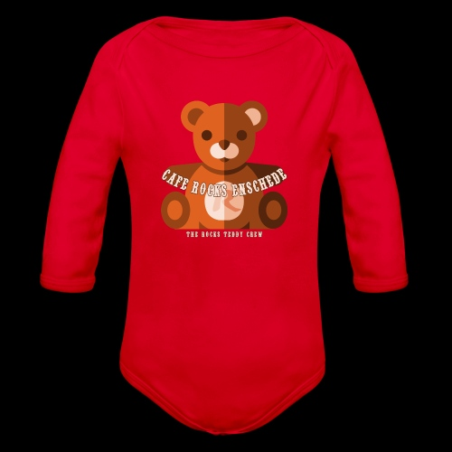 Rocks Teddy Bear - Brown - Baby bio-rompertje met lange mouwen