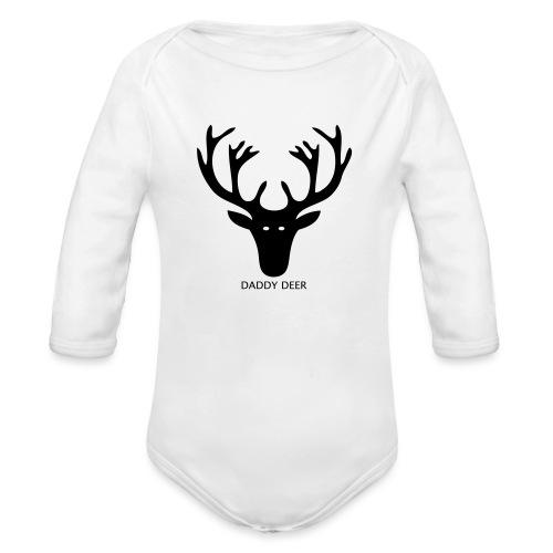 DADDY DEER - Organic Longsleeve Baby Bodysuit
