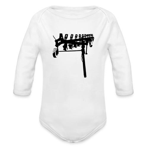 trailed plow - Organic Longsleeve Baby Bodysuit