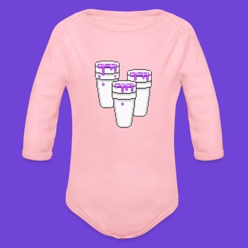 Purple - Body ecologico per neonato a manica lunga