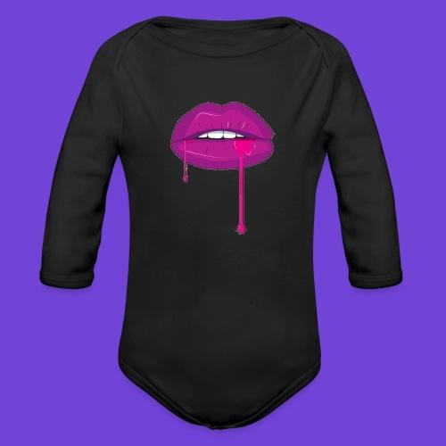Purple Kiss - Body ecologico per neonato a manica lunga
