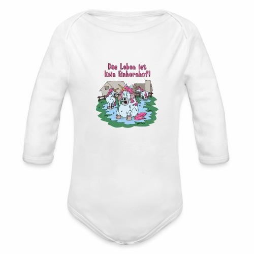 Kein Einhornhof! - Baby Bio-Langarm-Body